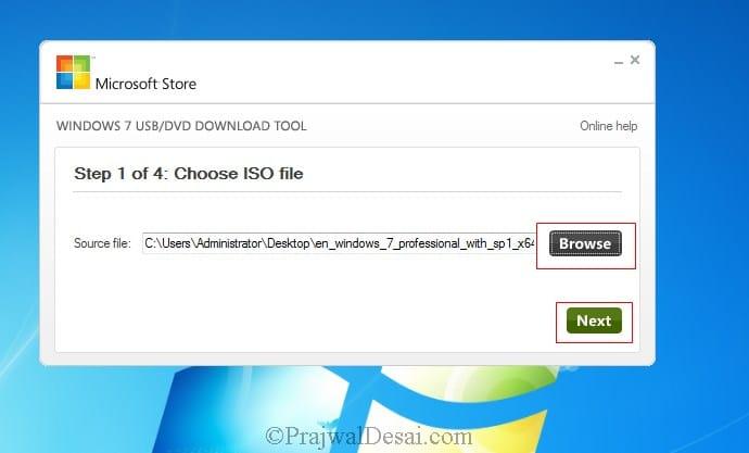 Windows 7 USB download tool