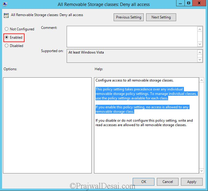 How to disable USB drives using Group Policy