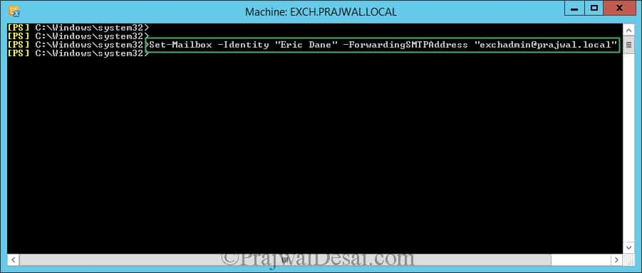 Configure Email Forwarding for a Mailbox