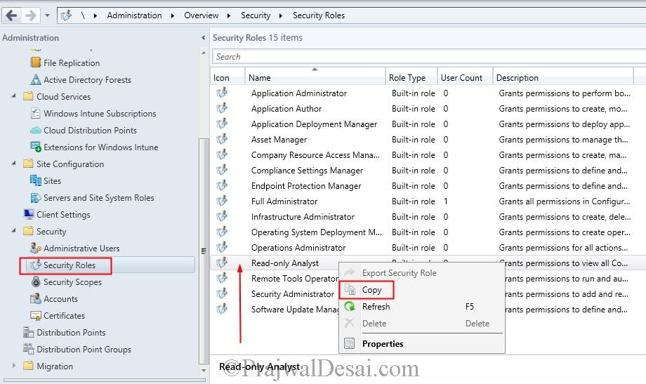 Create Report Viewer Role in SCCM 2012 R2