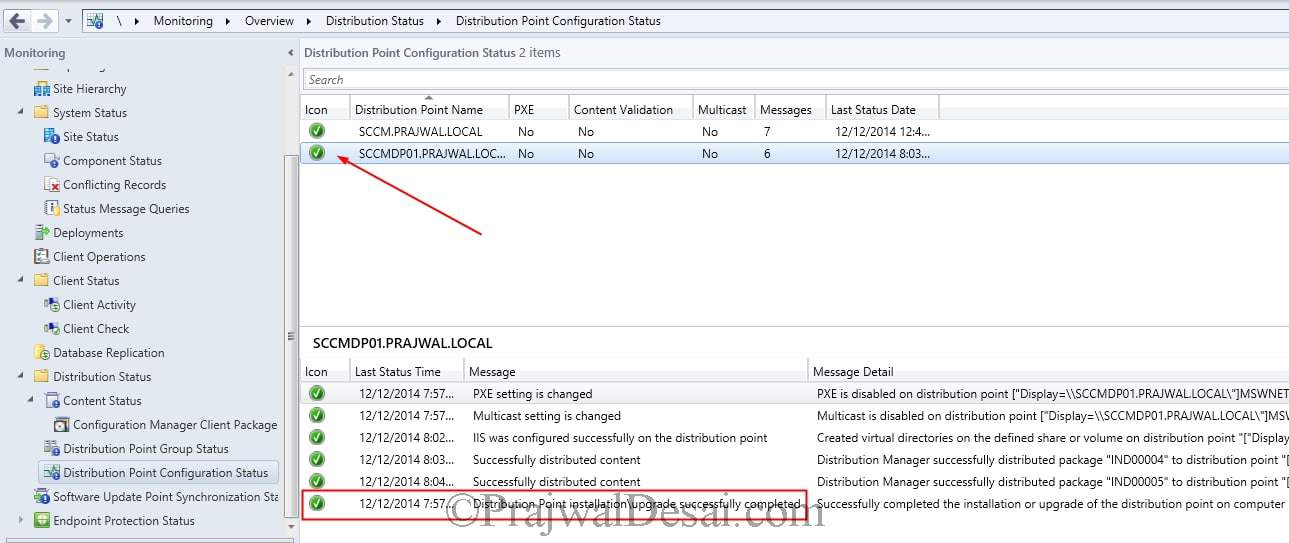 Monitoring SCCM Distribution Point Installation