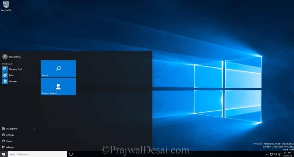 Upgrade Windows 7 to Windows 10