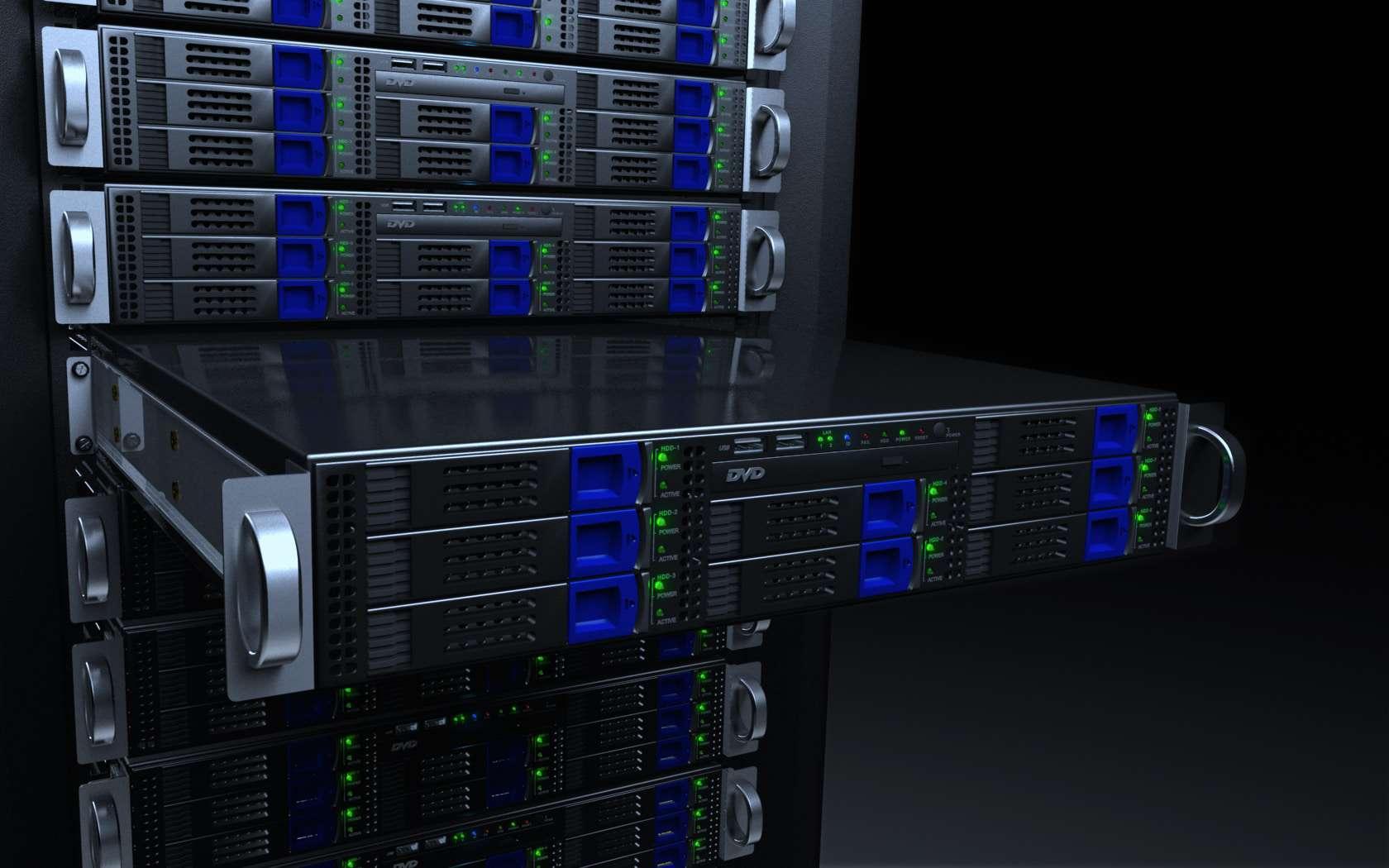 Server Rack Blue