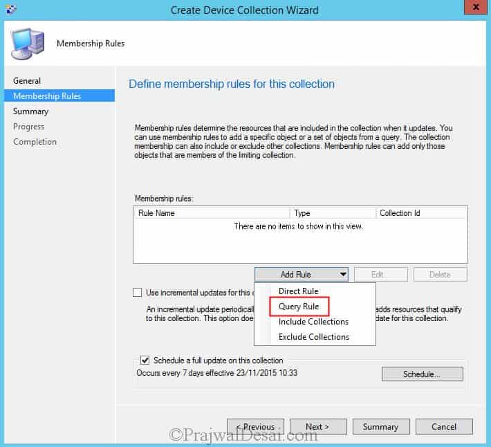 SCCM Device Collection for Windows 10 Computers