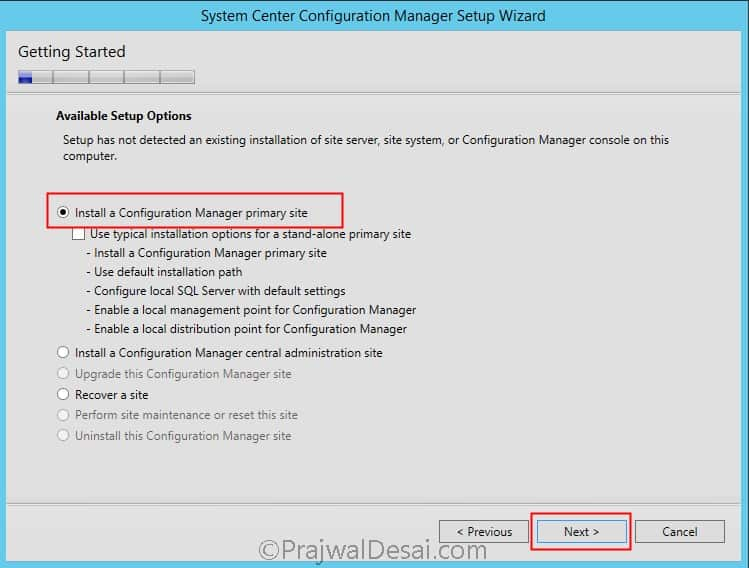 SCCM 1511 Quick Installation Guide