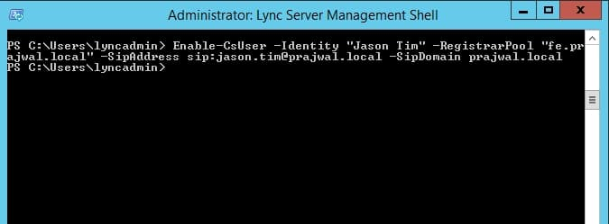 Lync Error Insufficient access rights to perform the operation