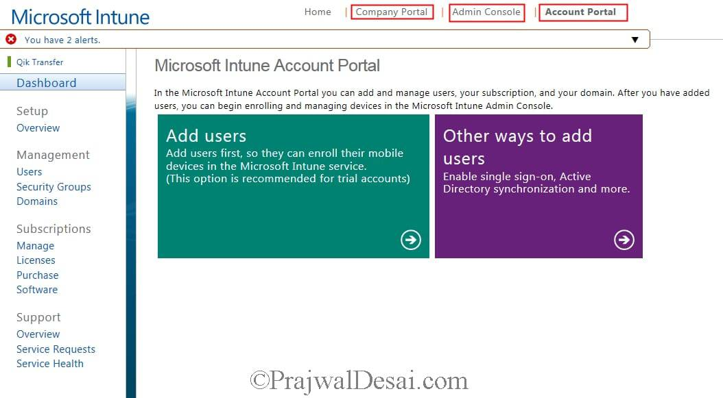 How to add and verify a Domain in Microsoft Intune