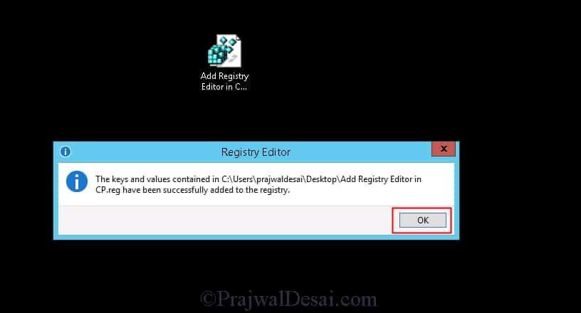 Add or remove Registry Editor utility in Control Panel