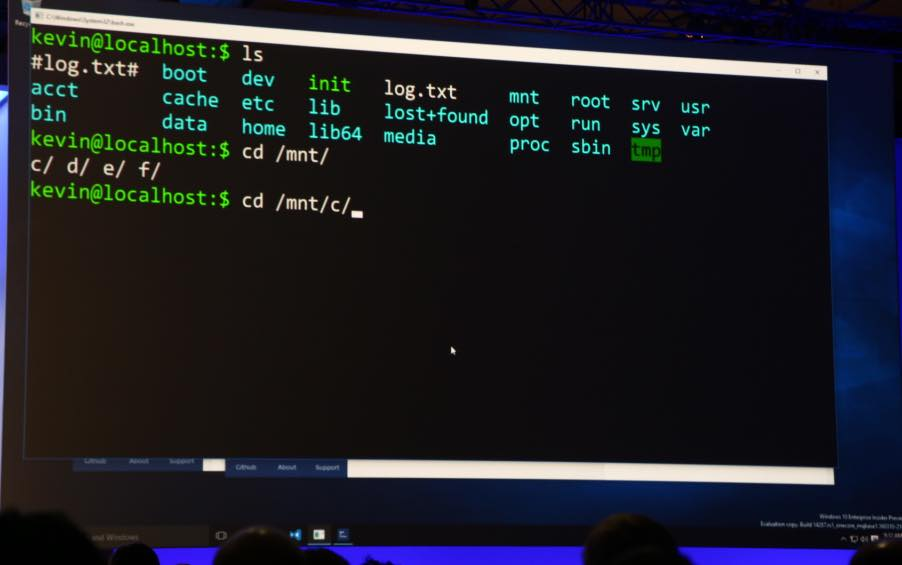 Microsoft is bringing Bash shell to Windows 10