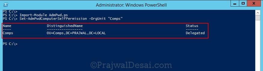How to configure Active directory for LAPS