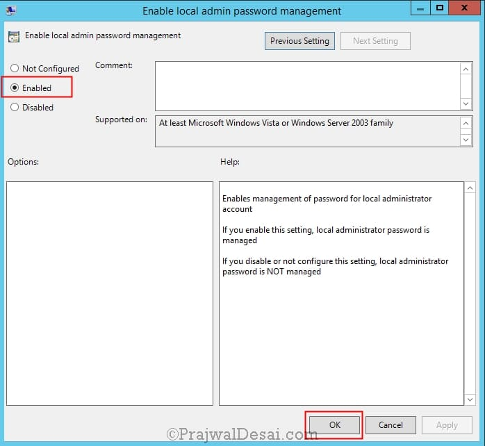 How to configure Group Policy for LAPS
