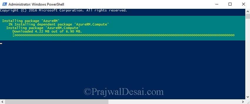 Install Azure PowerShell Module in Windows 10