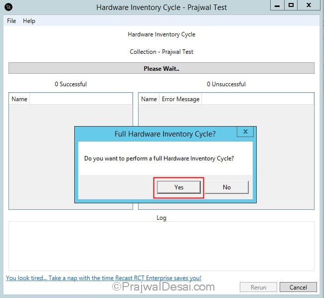 How to force Full Hardware Inventory on SCCM Clients
