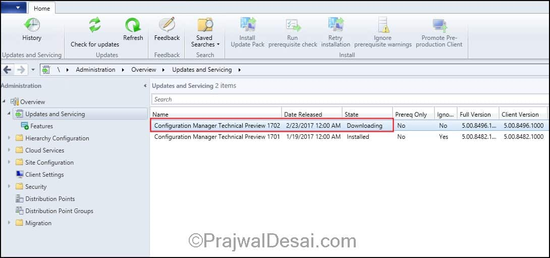 System Center Configuration Manager Technical Preview 1702