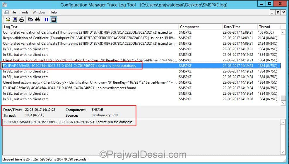 SCCM OSD TFTP download smsboot x64 abortpxe