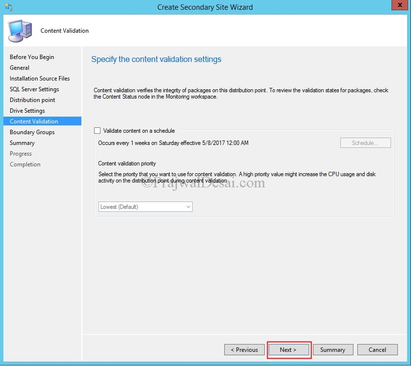 SCCM Secondary Site Installation