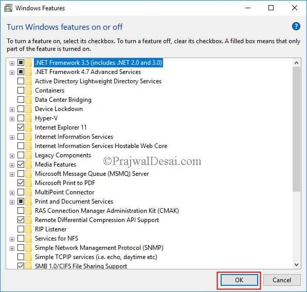Enable .NET Framework 3.5 in Windows 10 using SCCM