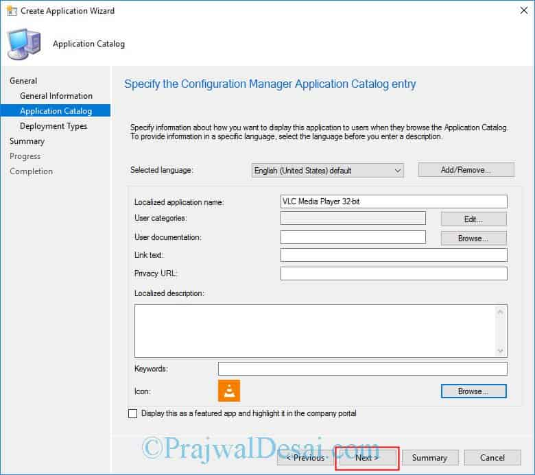 How to deploy VLC media player using SCCM