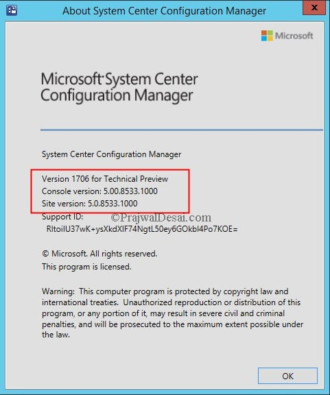 System Center Configuration Manager Technical Preview 1706