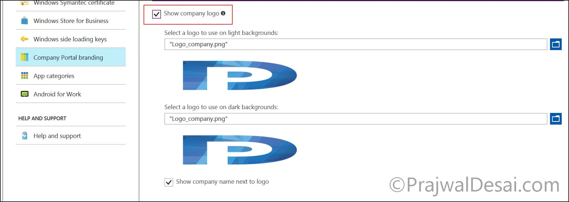 How to Configure Intune Company Portal Branding