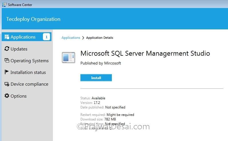 Deploy SQL Server Management Studio using SCCM