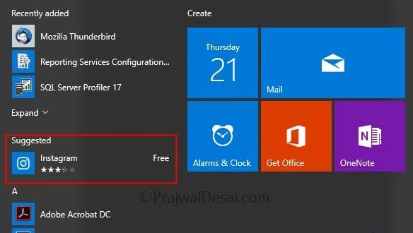 Turn off Windows 10 Microsoft Consumer Experiences