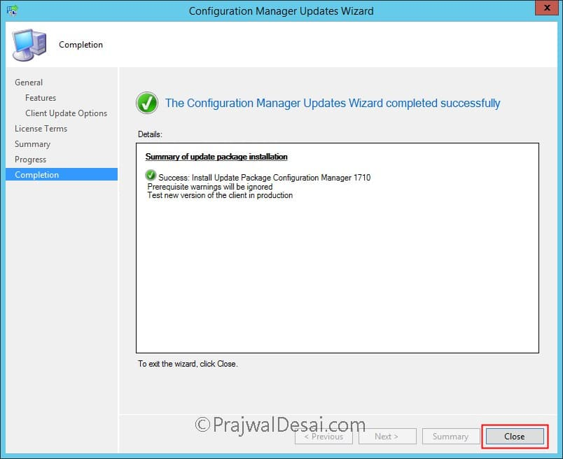 SCCM Configuration Manager 1710 Upgrade Guide