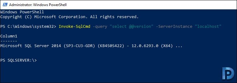 Check SQL Server Version using Powershell