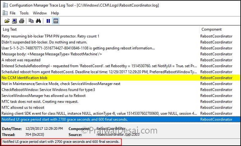 SCCM 1710 Restart Client Feature