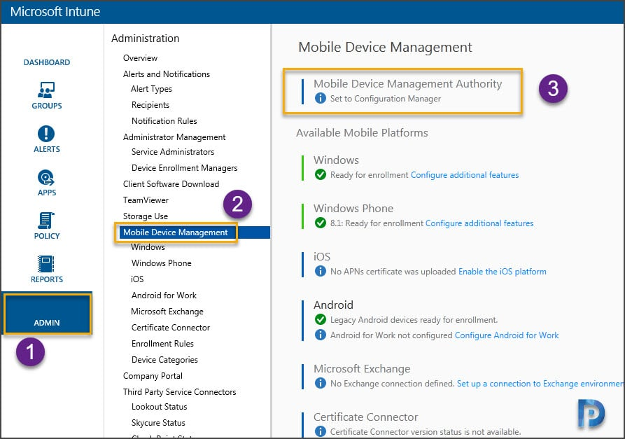 Add Microsoft Intune subscription Snap9