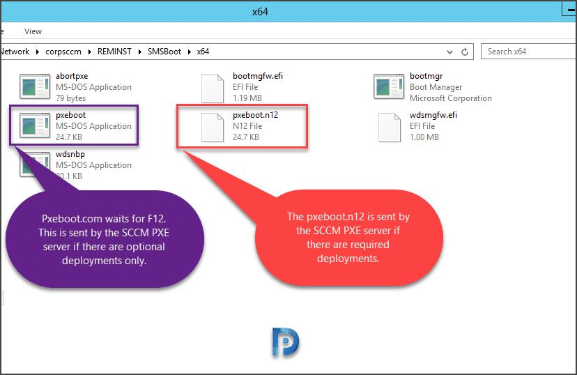 Remove Press F12 for network service boot