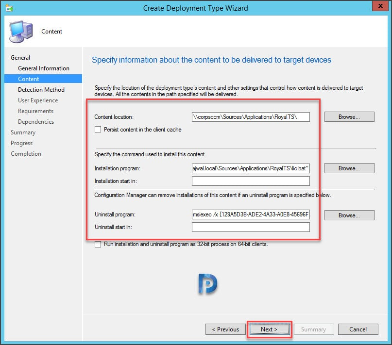 How to Deploy Royal TS using SCCM Snap11