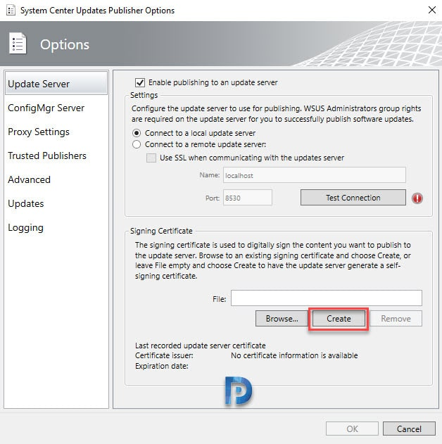 Install and Configure System Center Updates Publisher Preview Snap10