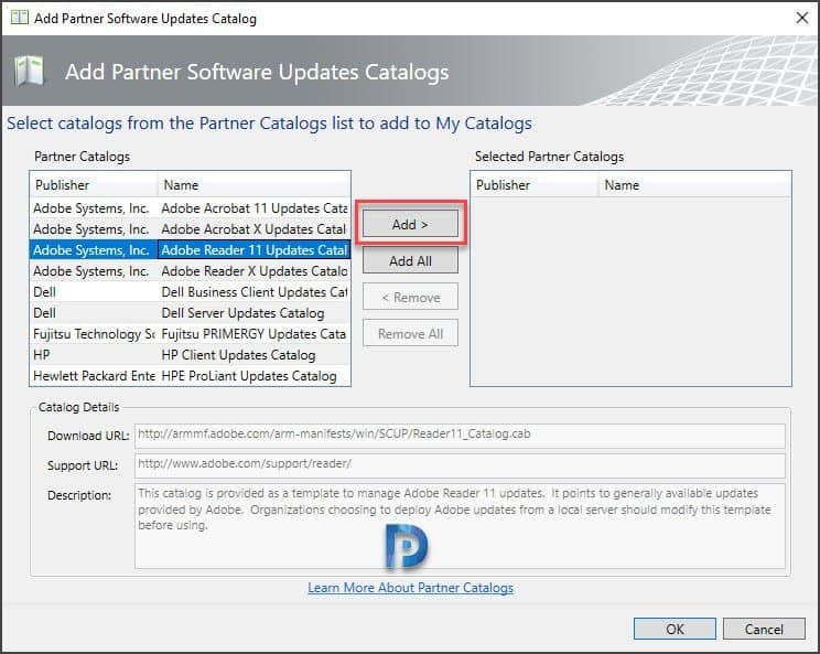 Manage SCUP software update catalogs