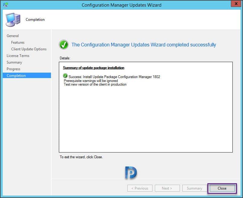 SCCM Configuration Manager 1802 Upgrade Guide