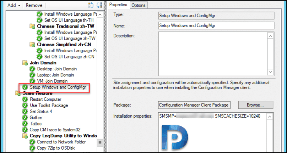 SCCM Task Sequence fails with error 0x87d00269 Snap4