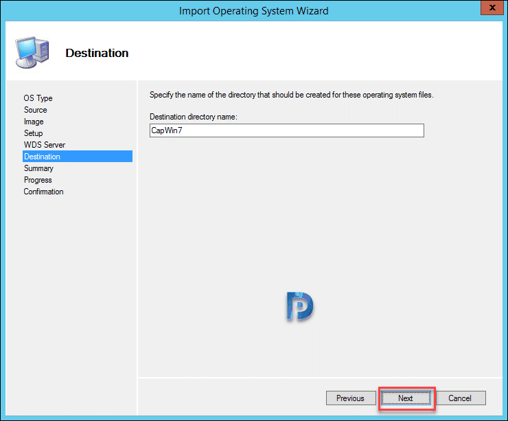 Import Captured WIM file into MDT