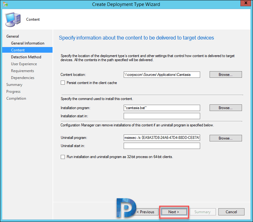 Deploy Camtasia Using SCCM