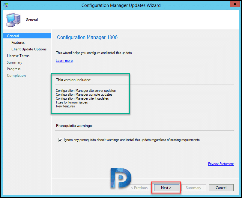 SCCM 1806 Upgrade Guide Step by Step