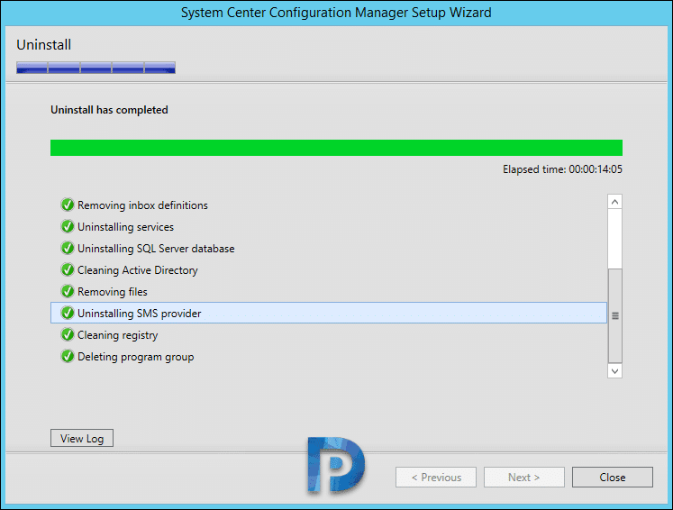 How to Uninstall SCCM Primary Site