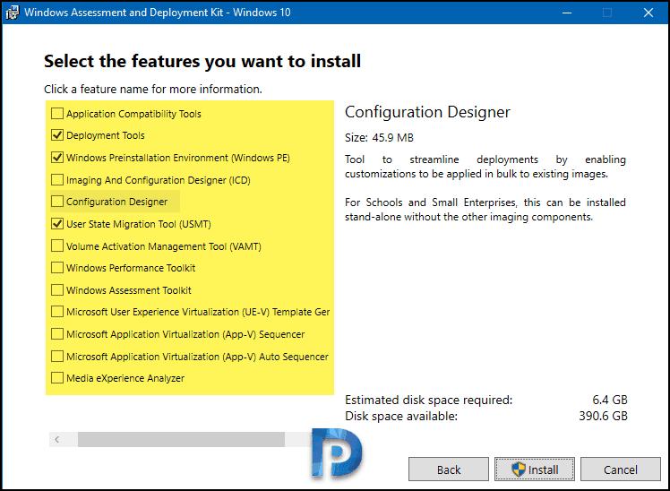List of Windows 10 ADK Versions