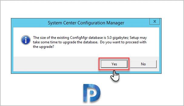 Database Upgrade SCCM