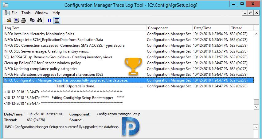 ConfigMgrsetup.log SCCM log file