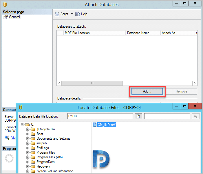 Perform Test Database Upgrade Before Installing SCCM