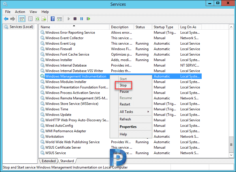 SQL Server update stopped by WmiPrvSE.exe process