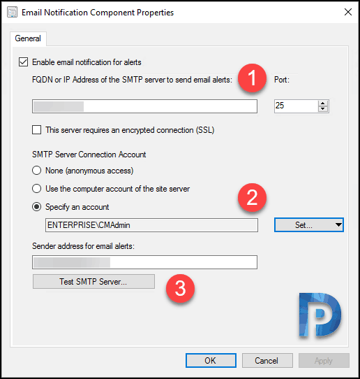 Configure Email Notification in SCCM
