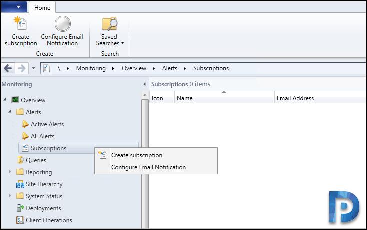 Configure SCCM Email Notification