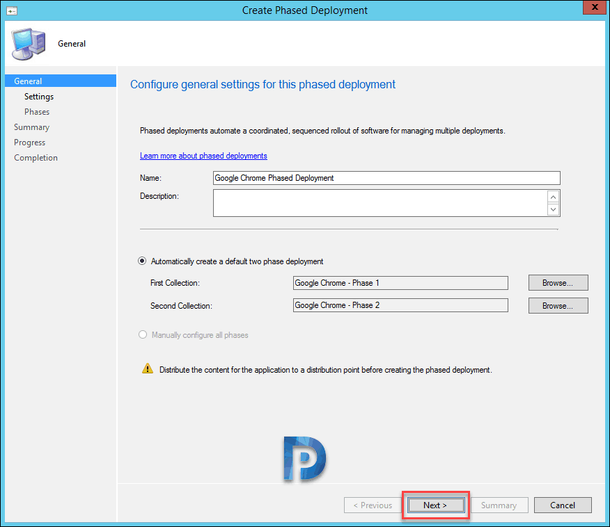Create SCCM Application Phased Deployments