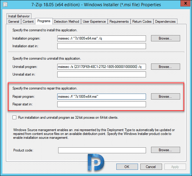 How to Repair Applications in SCCM 1810