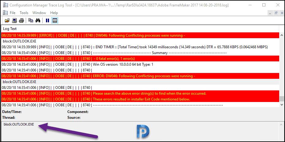 Troubleshooting Adobe FrameMaker Failed Deployments